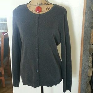 New.gray cardigan sweater XL
